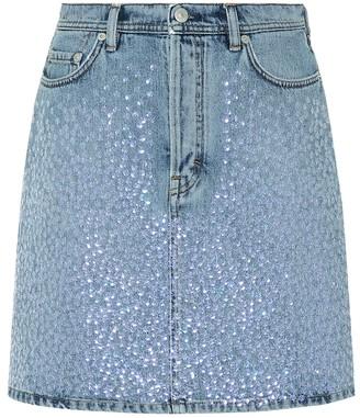 6e78aa6add Acne Studios Sharmayne embellished denim skirt