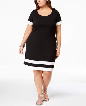 Plus Size Colorblock Dress Shopstyle