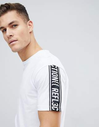 Jack and Jones Core Boxy Fit T-Shirt With Sleeve Slogan