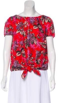 Rachel Comey Floral Short Sleeve Top
