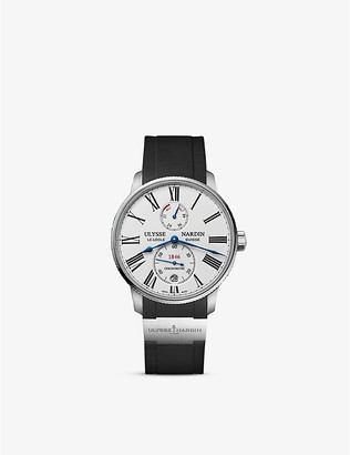 Ulysse Nardin 1183-310/40 Marine Torpilleur stainless steel and leather watch
