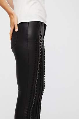 Blank NYC Vegan Leather Lattice Skinny Pants
