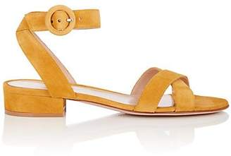 Gianvito Rossi Women's Suede Ankle-Strap Sandals - Yellow