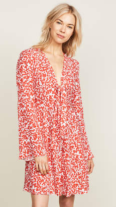 Diane von Furstenberg Tie Front Mini Dress