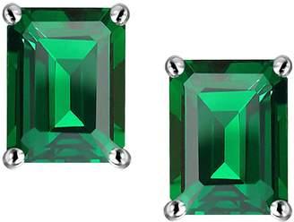 Stark Original Star K (tm) 8x6mm Emerald Cut Earrings in 925 Sterling Silver