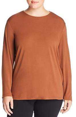 Eileen Fisher Plus Long-Sleeve Silk Tee