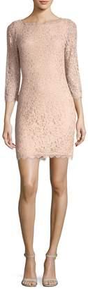 Diane von Furstenberg Women's Zarita 3/4 Sleeve Lace Dress