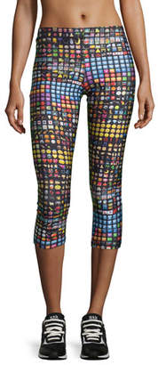 Terez Emoji Capri Performance Leggings