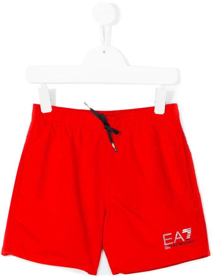 Armani JuniorArmani Junior logo print swim shorts