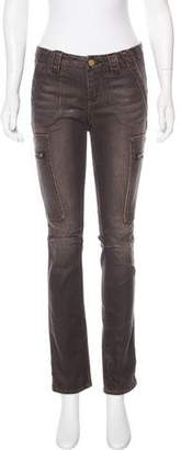 Tory Burch Slim Cargo Mid-Rise Jeans