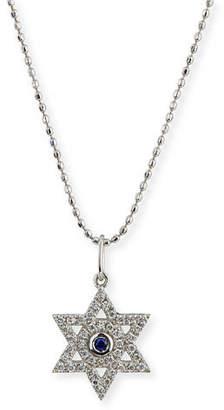 Sydney Evan Diamond & Sapphire Star of David Necklace