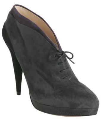 Prada asphalt suede lace up ankle boots