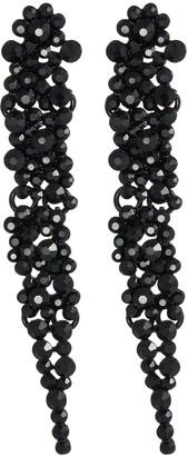 Kenneth Jay Lane Glass crystal cluster drop earrings