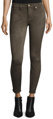 7 For All Mankind Knee-Seam Sueded Skinny Jeans $199 thestylecure.com