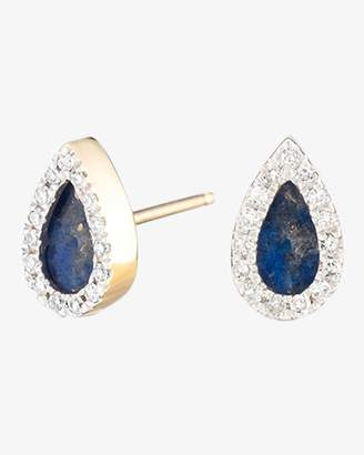 Adina Lapis and Diamond Teardrop Post Earrings