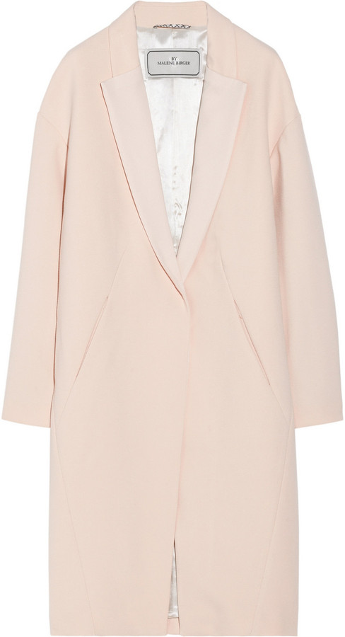 By Malene Birger Fiurica oversized satin-trimmed piqué coat