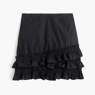 J.Crew Ruffle skirt in cotton-poplin