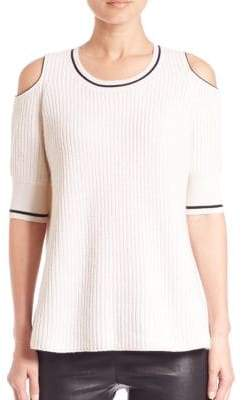 Knitlab Mayer Cold-Shoulder Sweater