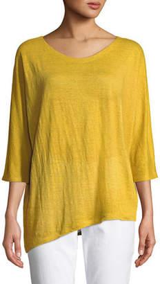Eileen Fisher Organic Linen Jersey Top