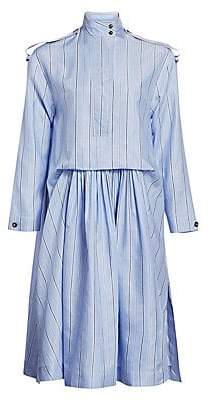 Cédric Charlier Women's Striped Ruched Shirtdress