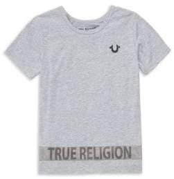 True Religion Boy's High-Low Logo Tee