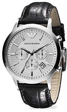 Emporio Armani Men's Slim Stainless Steel Chronograph Watch