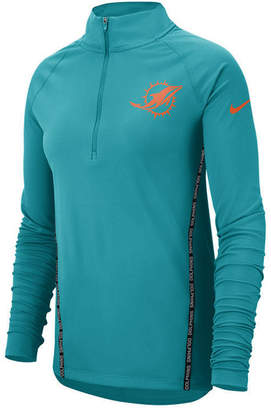 Nike Women's Miami Dolphins Element Core Quarter-Zip Pullover