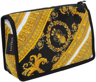 Versace I Love Baroque Wash Bag - Black/White/Gold