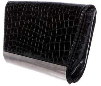 Giuseppe Zanotti Design Embossed Leather Flap Clutch