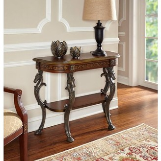 Powell Console with Horse head, Hoofed-foot Cast Legs and Display Shelf 416-225