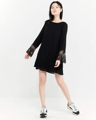 f7cd10e15a1a Fashion On Earth Crochet Bell Sleeve Dress