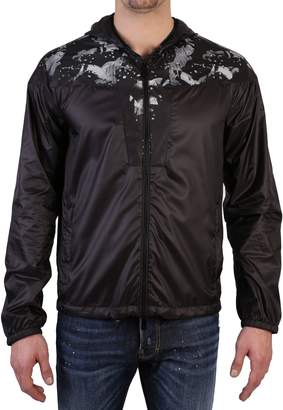 Marcelo Burlon County of Milan Black Jacket With Contrasting Print