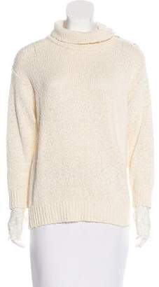 Brunello Cucinelli Lace-Trimmed Open Knit Sweater