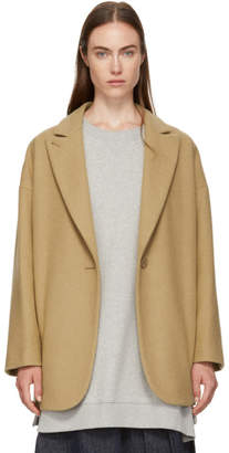 MM6 MAISON MARGIELA Beige Wool Coat