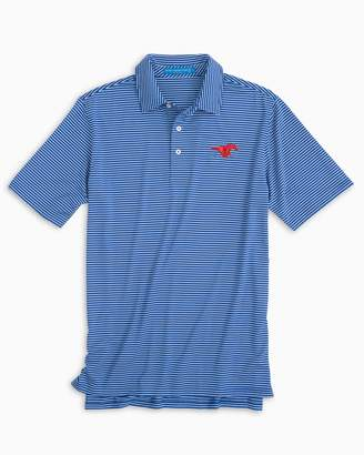 Southern Tide Gameday Stripe Polo - Southern Methodist University