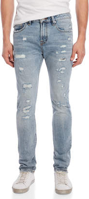 Cult of Individuality Rockability Distressed Slim-Fit Jeans