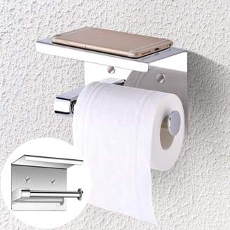 Anauto Wall Mounted Tissue Holder, SUS304 Stainless Steel Bathroom Toilet Paper Holder