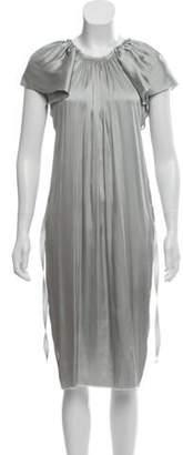 Lanvin Silk Satin Dress Silver Silk Satin Dress