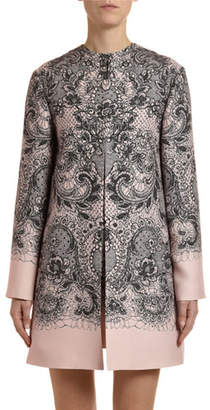 Valentino Lace Crepe Couture Coat
