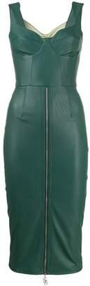 Elisabetta Franchi faux leather pencil dress