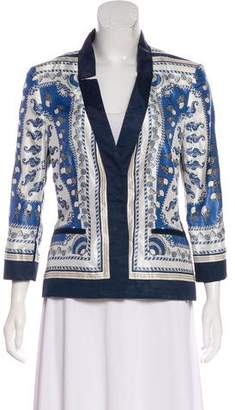 Philosophy di Alberta Ferretti Abstract Print Evening Jacket