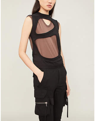 Drkshdw Cutout cotton-jersey top