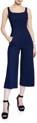 Chiara Boni Charo Square-Neck Sleeveless Cropped Jumpsuit
