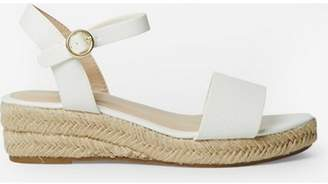 Dorothy Perkins Womens White 'Riana' Wedge Sandals