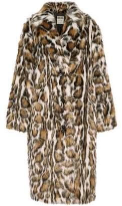 Moschino Leopard-Print Faux Fur Coat