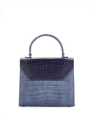 Nancy Gonzalez Lily Medium Two-Tone Crocodile Top-Handle Bag