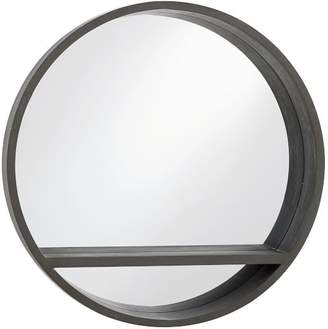 Pottery Barn Teen Wood Mirror Shelf, Brushed Charcoal