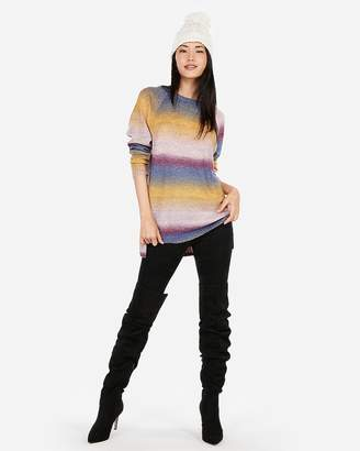 Express Ombre Space Dye Oversized Tunic Sweater