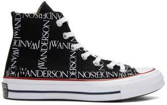 J.W.Anderson Black Converse Edition Grid Logo Sneakers