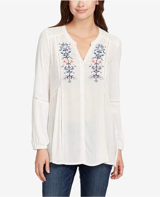 Vintage America Mariana Embroidered Peasant Top